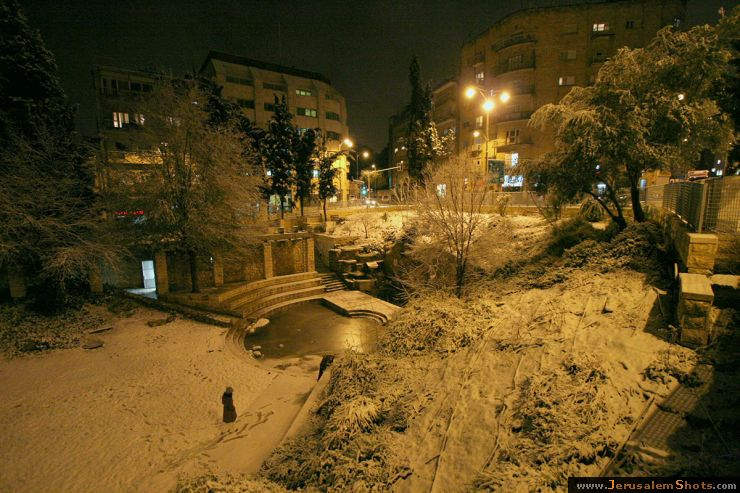 Jerusalem at snow 28.12.2006