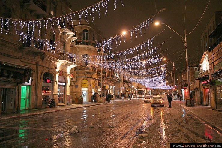 Jaffa street at night 28.12.2006