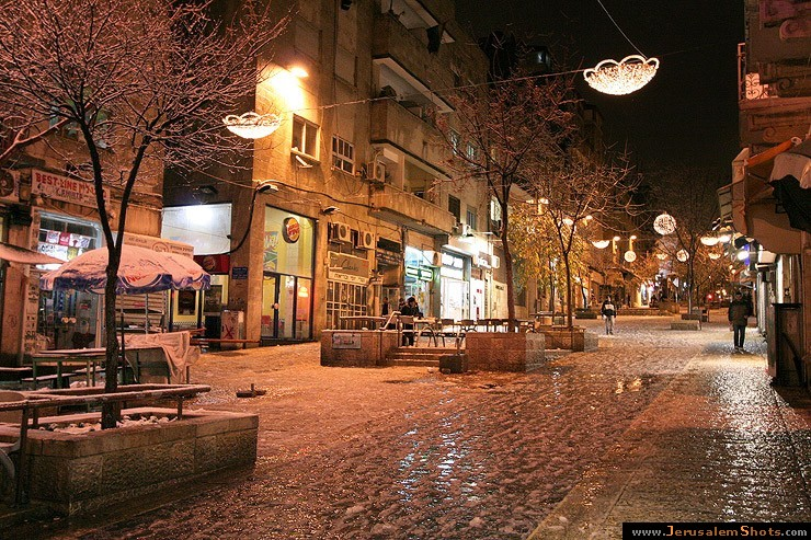 Ben Yehuda street at snow 28.12.2006