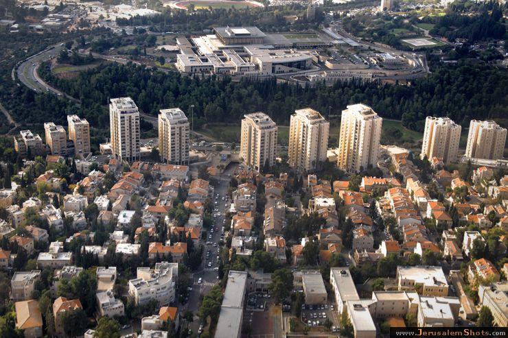 Улицы Агрипас и Яфо, вид с неба