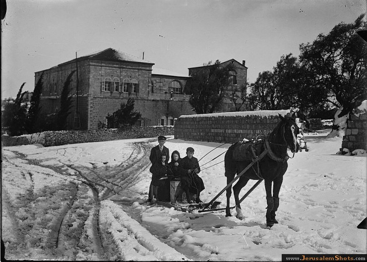Jerusalem during a snowy winter 1900 - 1920