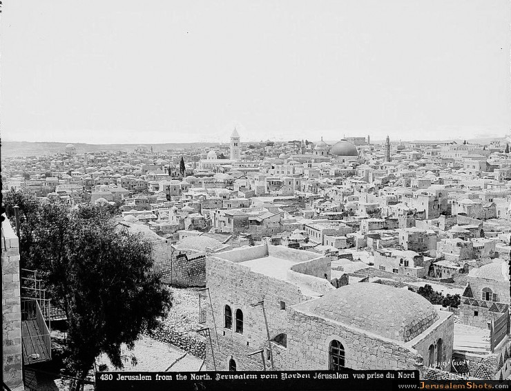 Jerusalem from the north, showing flat-roofed houses