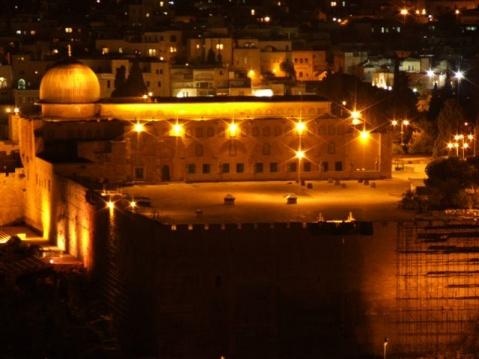جميلة جدا  لمدينة القدس في الليل