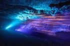 Zedekiah´s Cave in lights like ocean