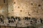 Kotel at night after Shabbat