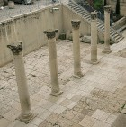 Columns on the Cardo street (Old City)