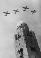 British planes over the Jerusalem Y.M.C.A. tower (between 1933 and 1946)